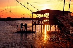 Chioggia_pescatori_al_tramonto