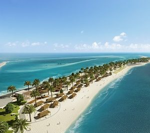United Arab Emirates, Sir Bani Yas Island Beach Resort - Southern beach, MSC Yacht Club area