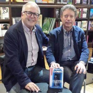 Lo scrittpre Diego Zandel a sinistra e Carlo Sacchettoni.